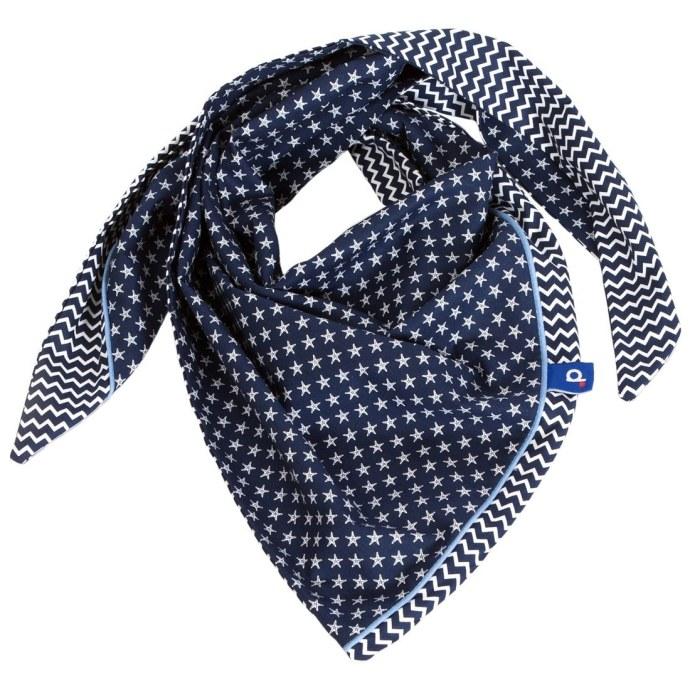 Chèche en coton adulte réversible  bleu marine à étoiles SP-17024-L