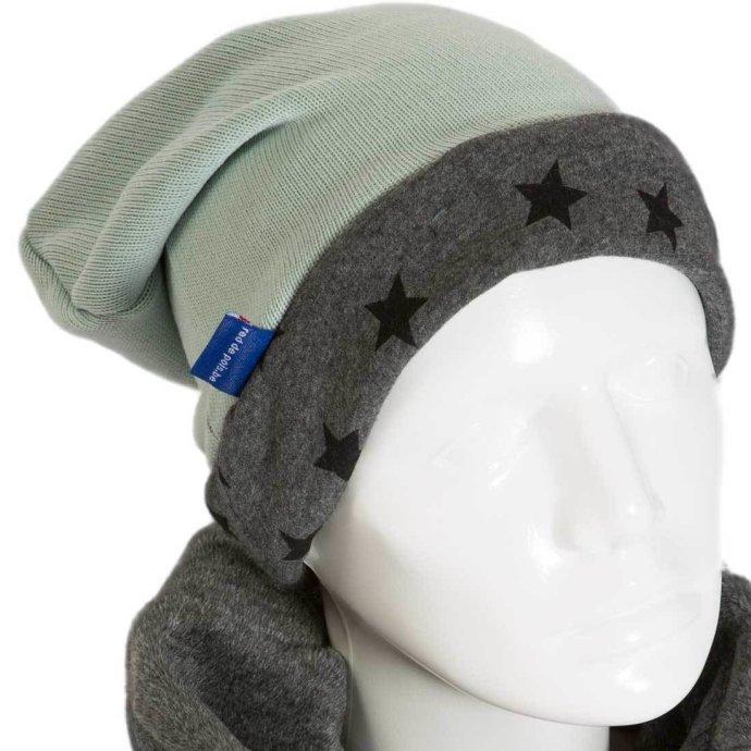 Bonnet pour enfant sweat et polaire vert 3-6 ans BO-18006-M