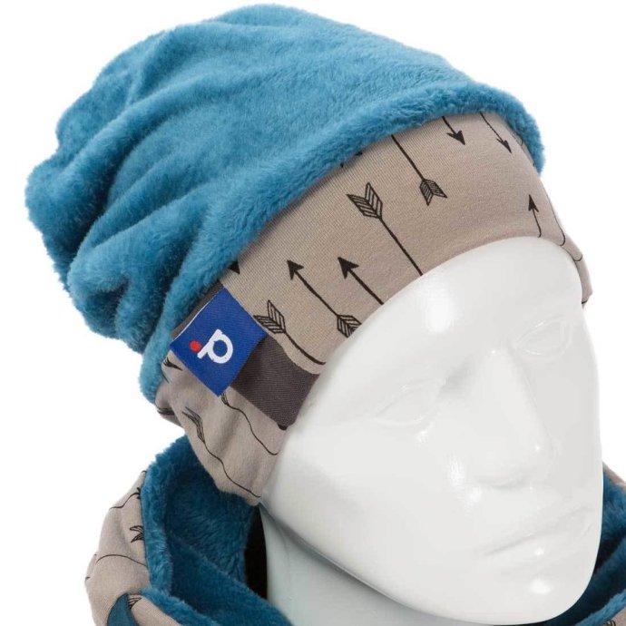 Bonnet pour enfant doux en polaire turquoise 3-6 ans BO-18008-M