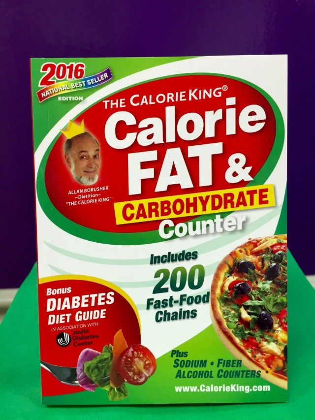CALORIE, FAT, AND CARBOHYDRATE COUNTER