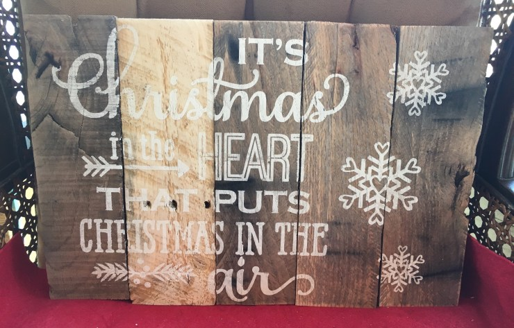 Pallet Sign - Christmas in the heart C1