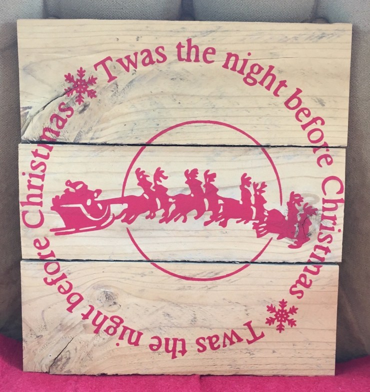 Pallet Sign - 'Twas The Night