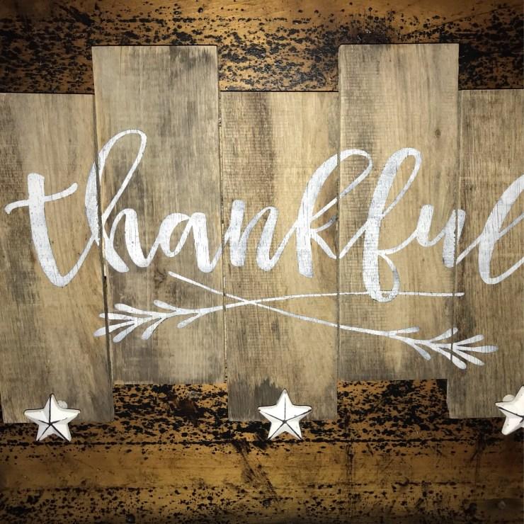 Pallet Sign - Thankful S1