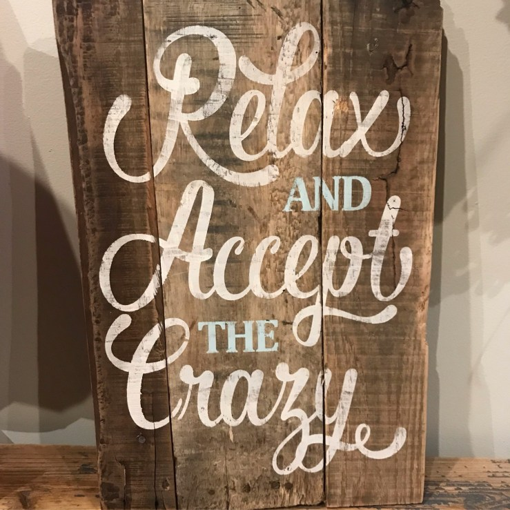 Pallet Sign - Relax