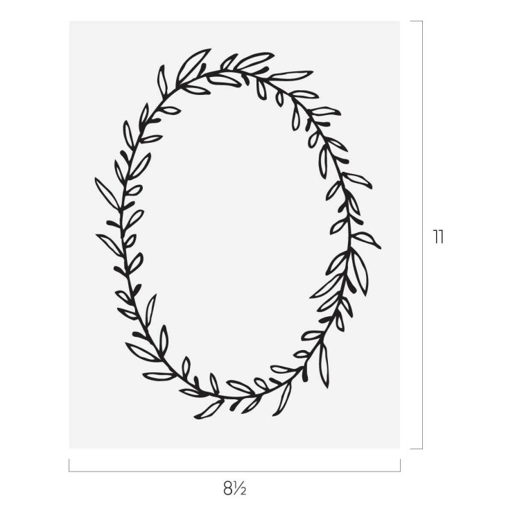Oval Wreath Transfer