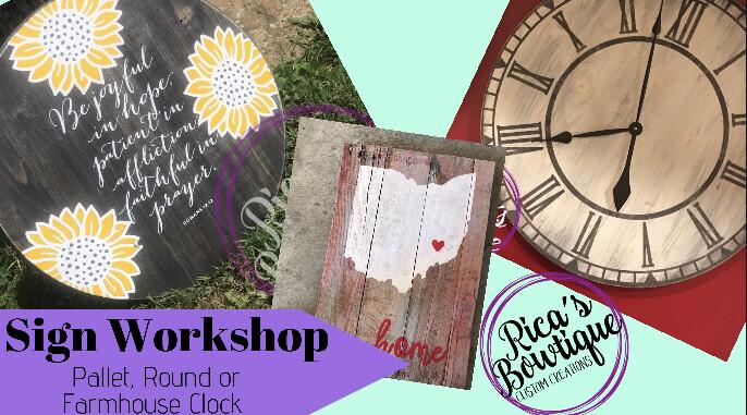 Sign Workshop - 9/15