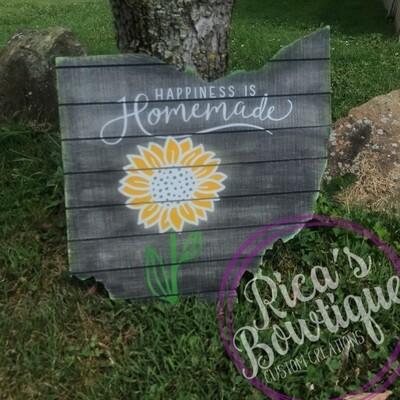 Ohio Sunflower Sign