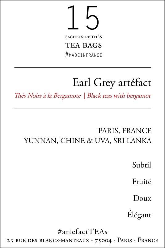 x15 Earl Grey artéfact Sachets de Thés / Tea Bags