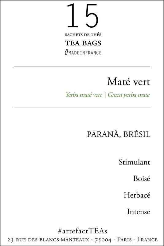x15 Maté Vert Sachets de Thé   Tea Bags
