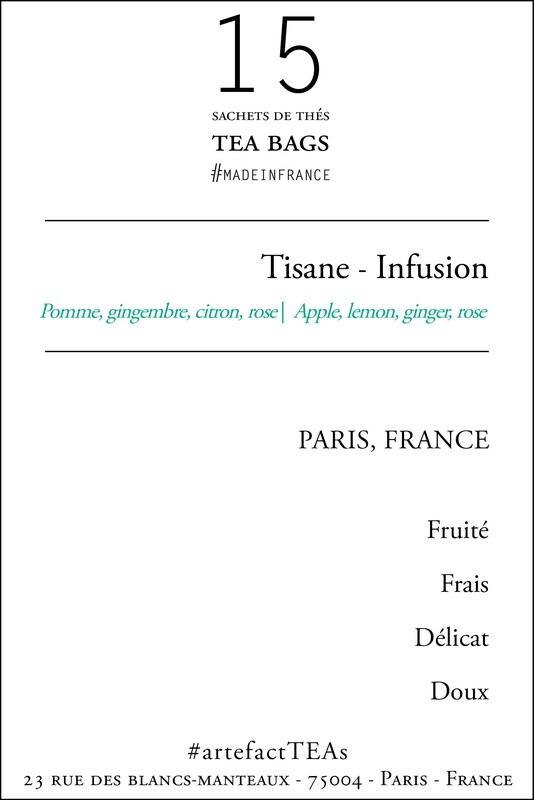 x15 Tisane Sachets de Thé   Tea Bags
