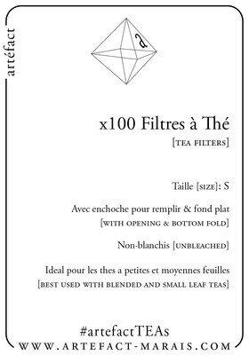 x100 Filtres à thé   Tea Filters