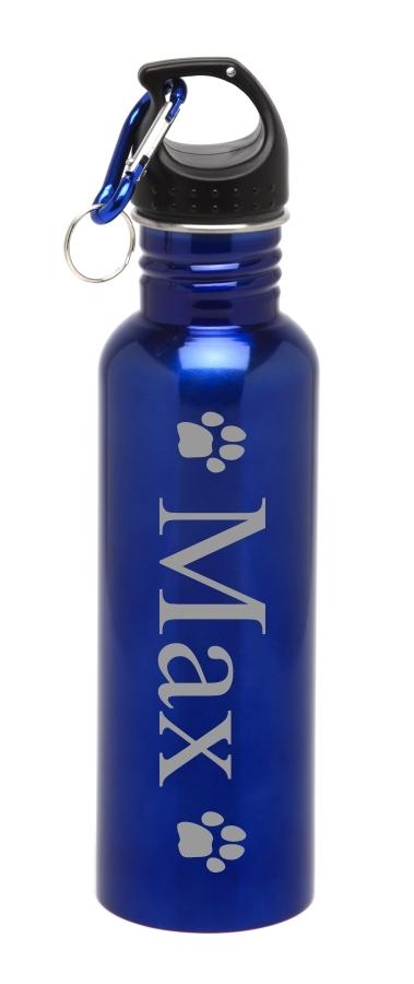 Personalized Water Bottle Stainless Steel Water Bottle Pet Paw SSWB-113