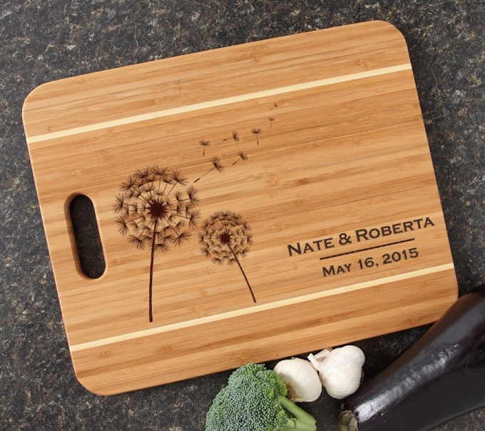 Personalized Cutting Board Engraved 15x12 Handle DESIGN 28 CBA-028