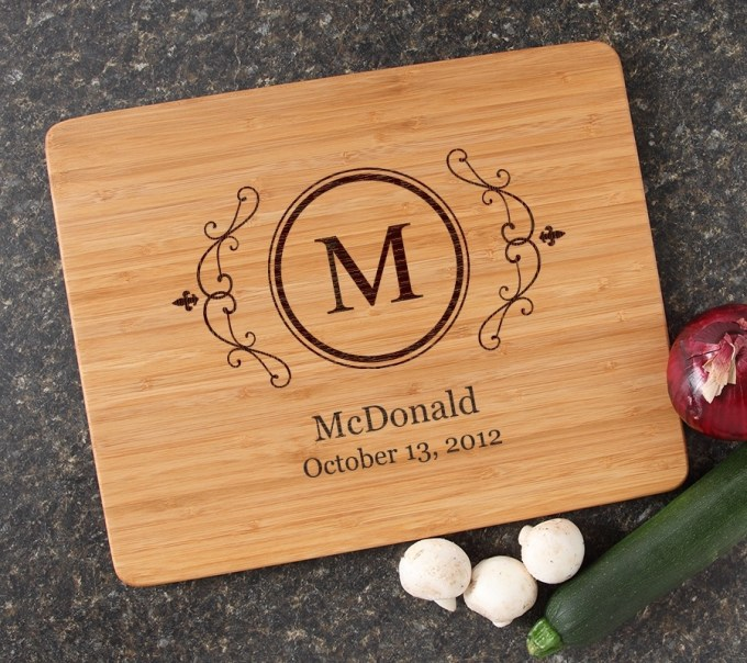Engraved Bamboo Cutting Board Personalized 15x12 DESIGN 10 CBB-010
