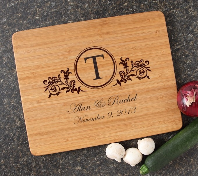 Engraved Bamboo Cutting Board Personalized 15x12 DESIGN 15 CBB-015