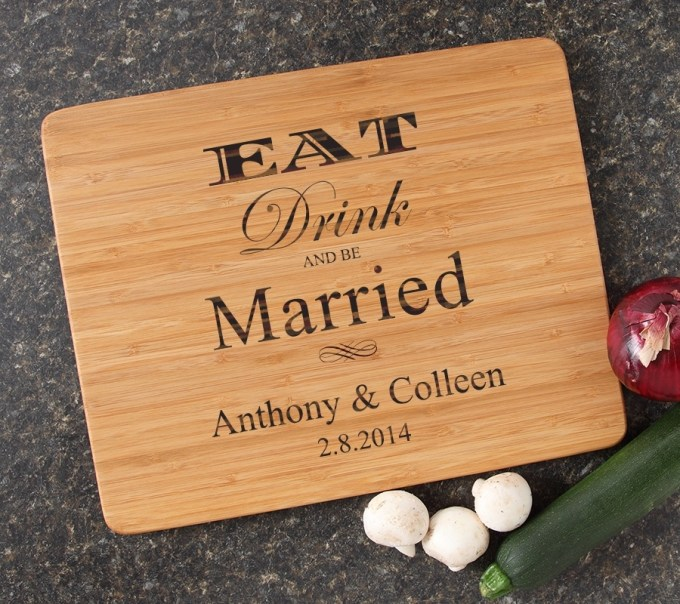 Engraved Bamboo Cutting Board Personalized 15x12 DESIGN 17 CBB-017