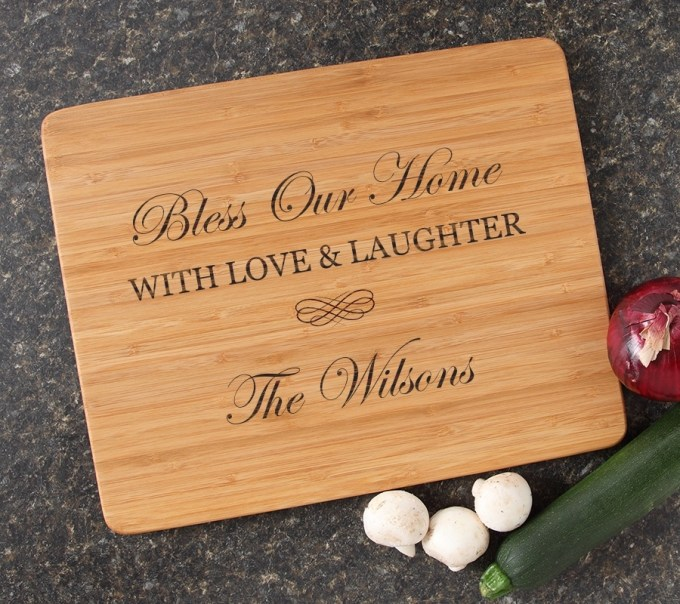Engraved Bamboo Cutting Board Personalized 15x12 DESIGN 22 CBB-022
