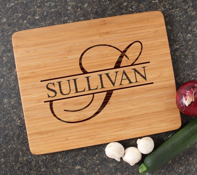 Engraved Bamboo Cutting Board Personalized 15x12 DESIGN 25 CBB-025