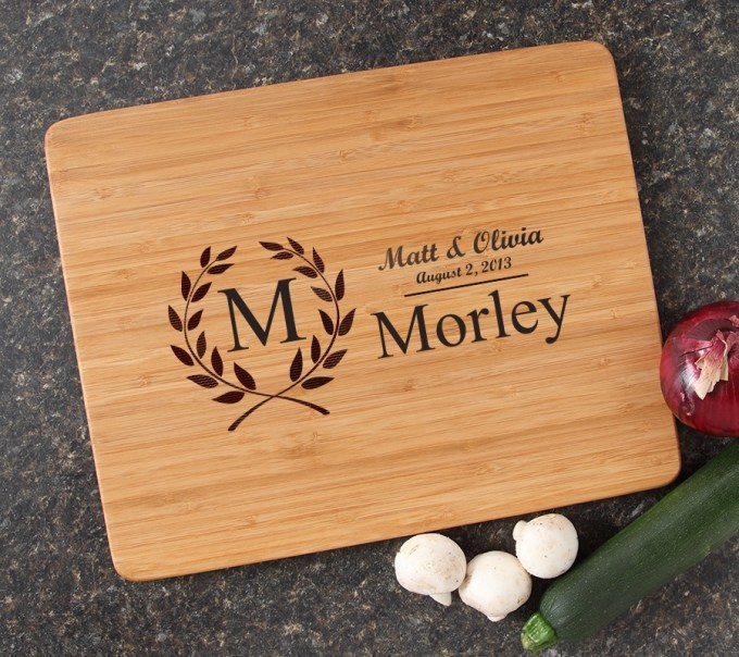 Engraved Bamboo Cutting Board Personalized 15x12 DESIGN 6 CBB-006