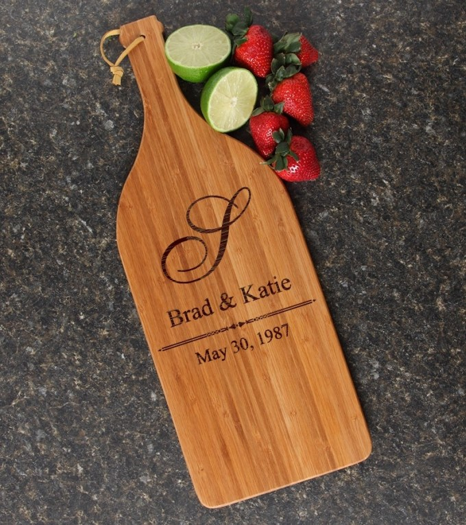 Personalized Cutting Board Engraved Bamboo 16 x 5 DESIGN 11 CBD-011
