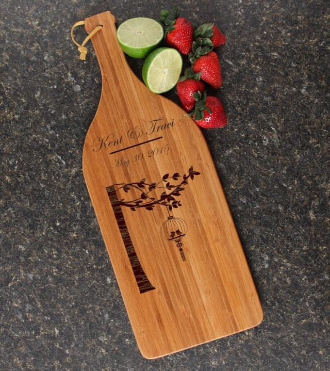 Personalized Cutting Board Engraved Bamboo 16 x 5 DESIGN 32 CBD-032