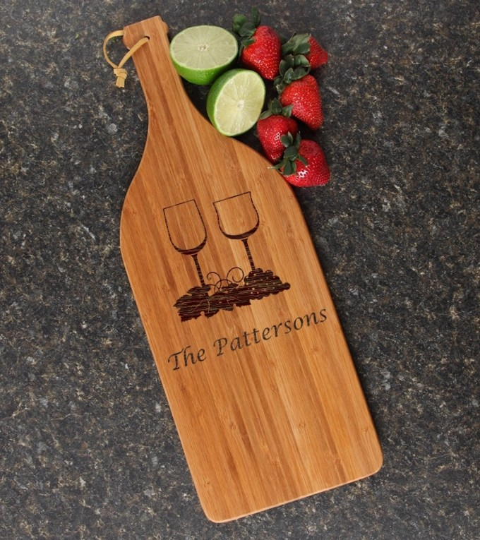 Personalized Cutting Board Engraved Bamboo 16 x 5 DESIGN 5 CBD-005