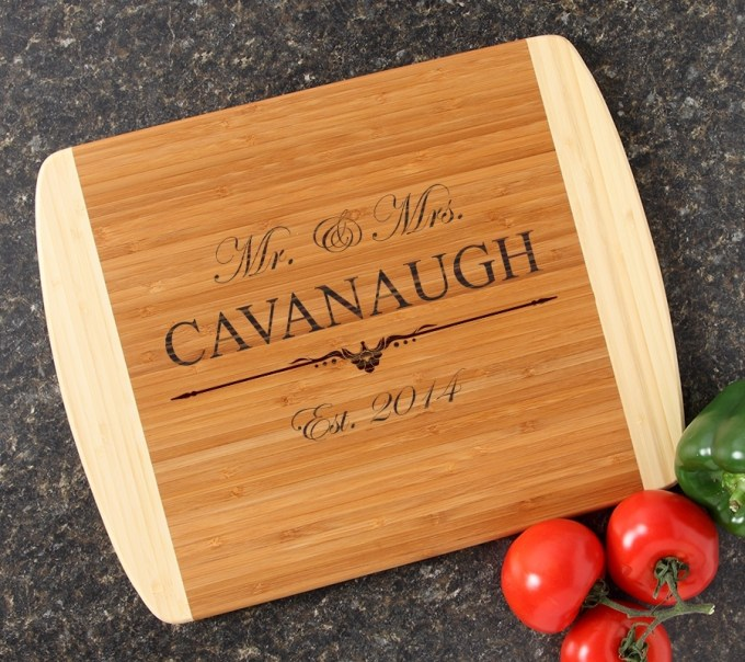 Personalized Cutting Board Custom Engraved 14x11 DESIGN 19 CBC-019