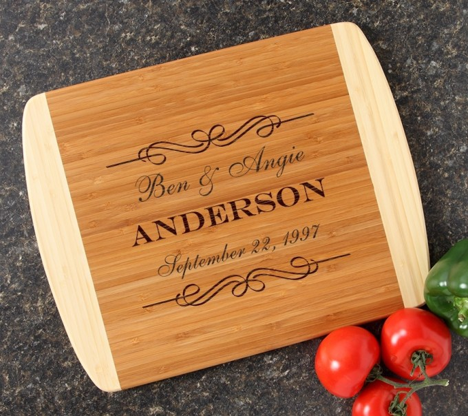 Personalized Cutting Board Custom Engraved 14x11 DESIGN 9 CBC-009