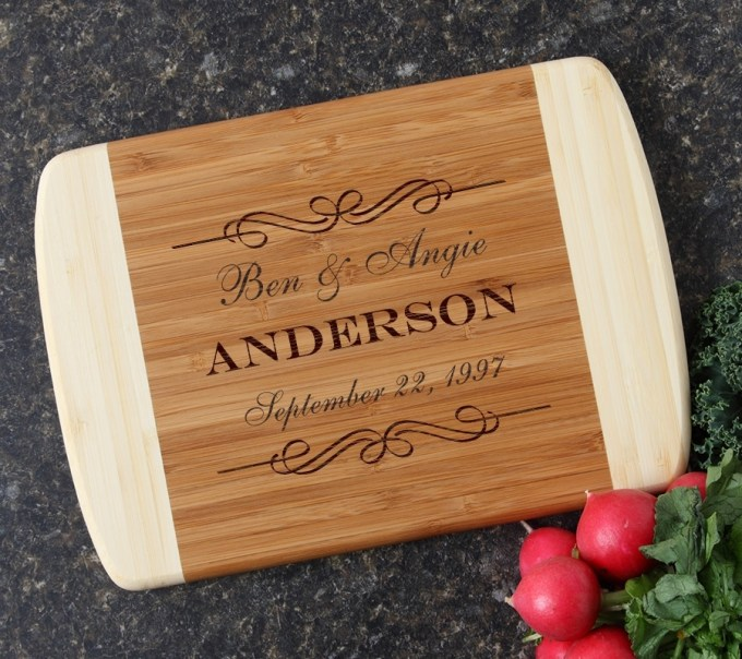 Personalized Cutting Board Custom Engraved 10 x 7 DESIGN 9 CBG-009