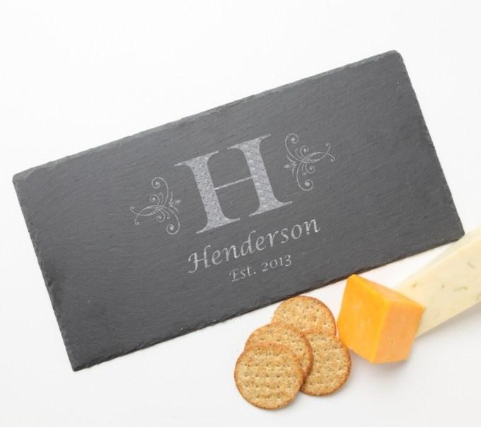 Personalized Slate Cheese Board 15 x 7 DESIGN 2 SCB-002