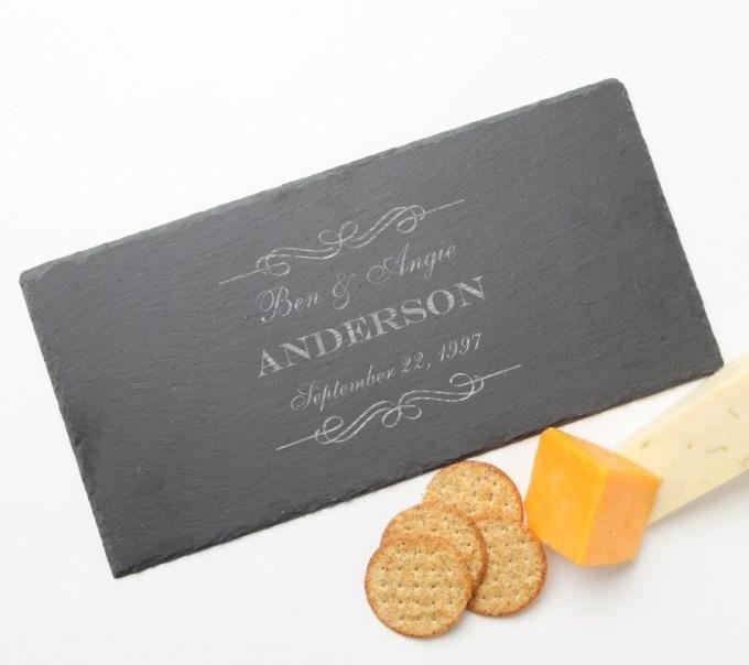 Personalized Slate Cheese Board 15 x 7 DESIGN 9 SCB-009