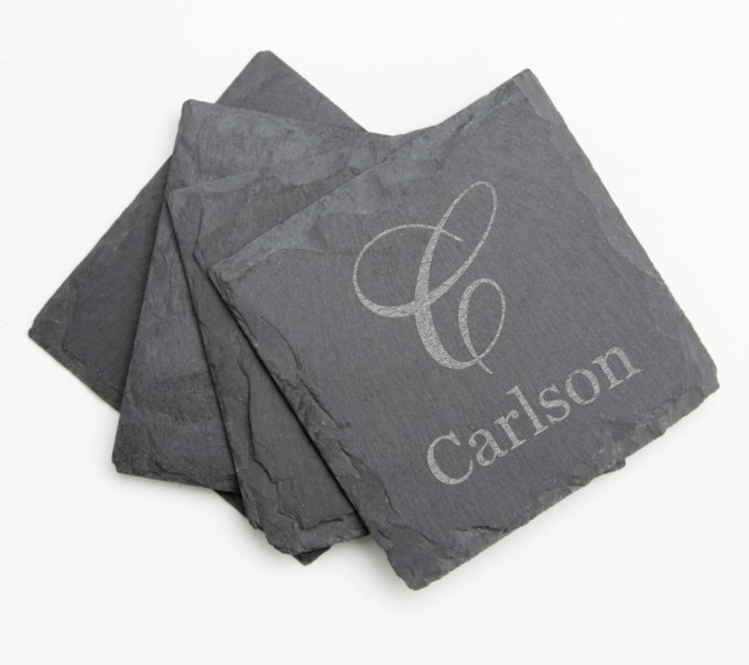 Personalized Slate Coasters Engraved Slate Coaster Set DESIGN 3 SCS-003