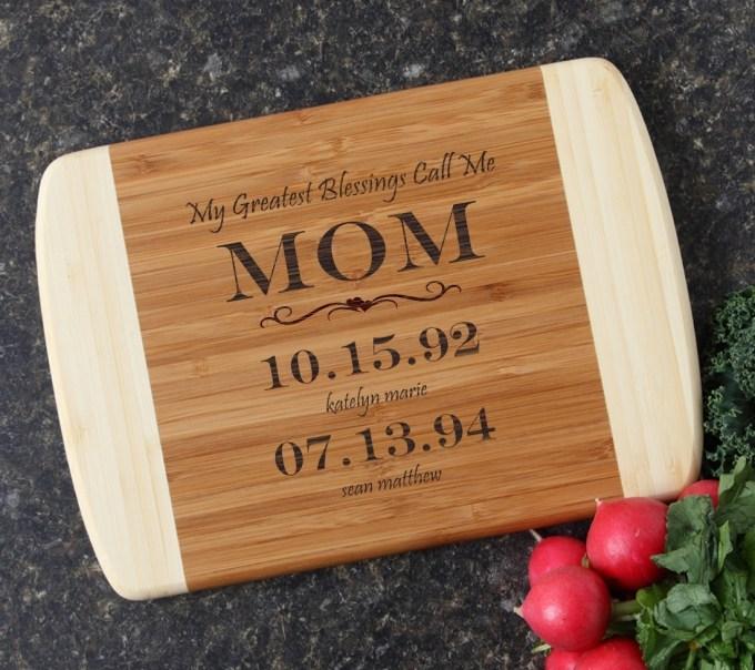 Personalized Cutting Board Custom Engraved 10 x 7 DESIGN 38 CBG-038