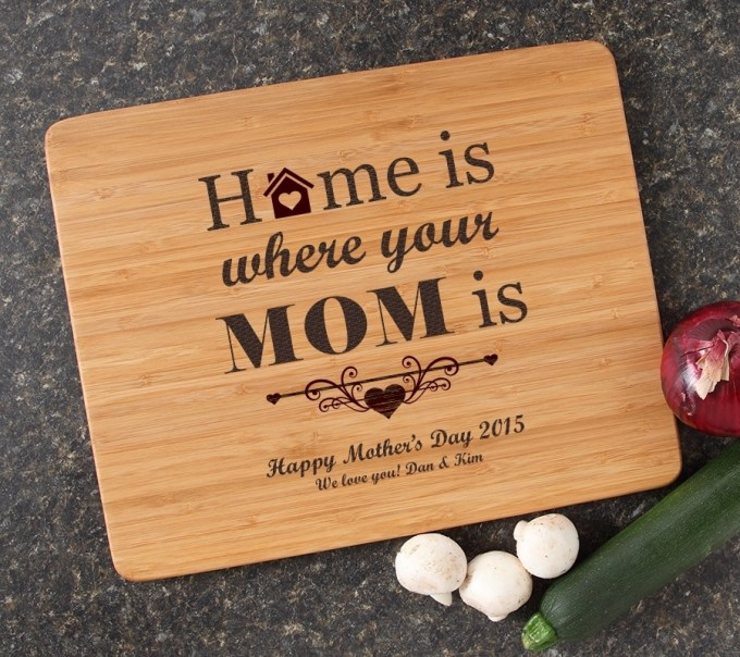 Engraved Bamboo Cutting Board Personalized 15x12 DESIGN 42 CBB-042