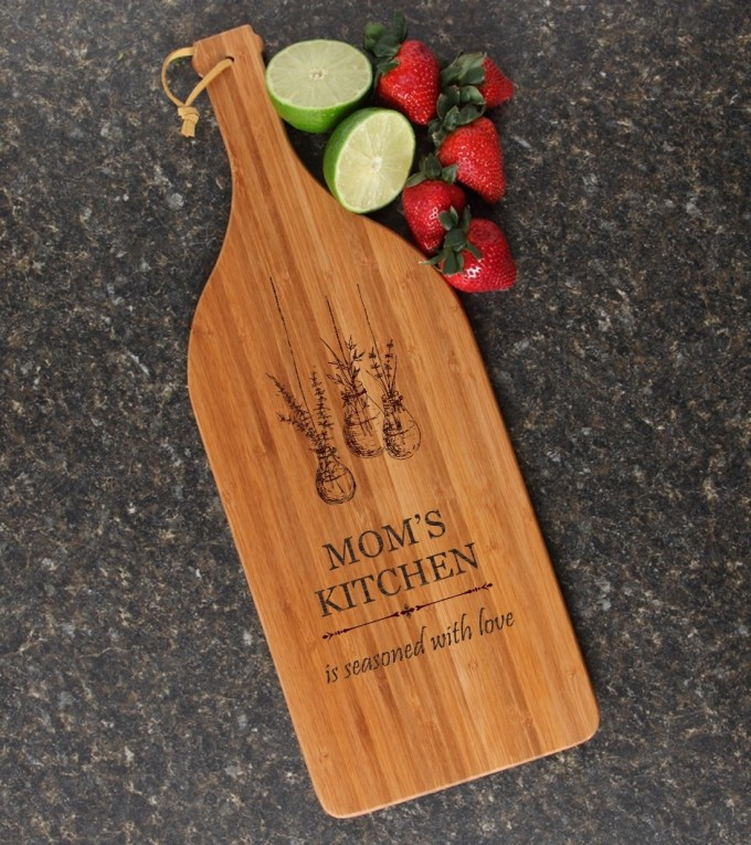 Personalized Cutting Board Engraved Bamboo 16 x 5 DESIGN 37 CBD-037
