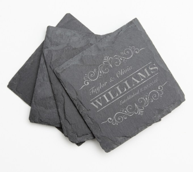 Personalized Slate Coasters Engraved Slate Coaster Set DESIGN 34 SCS-034