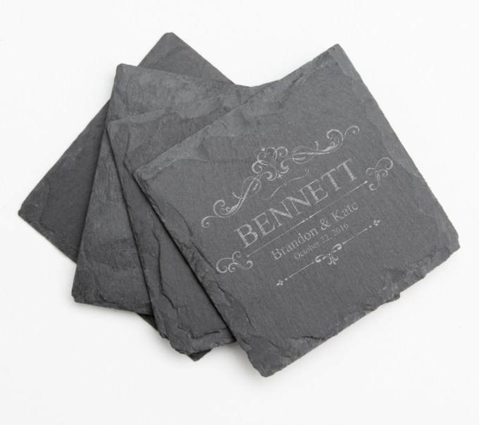 Personalized Slate Coasters Engraved Slate Coaster Set DESIGN 35 SCS-035
