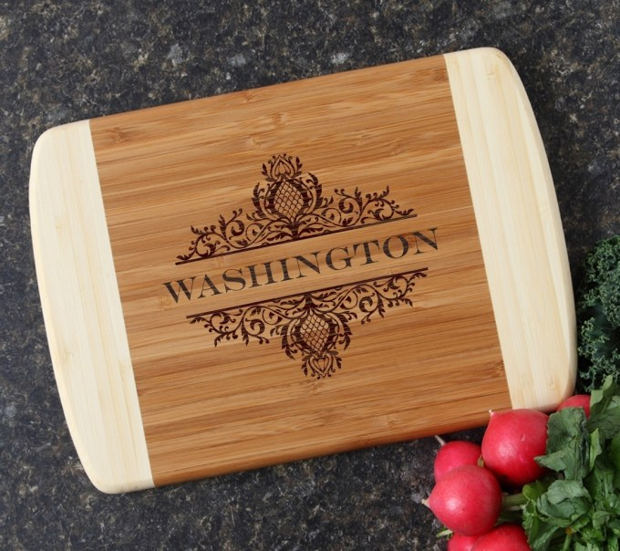 Personalized Cutting Board Custom Engraved 10 x 7 DESIGN 36 CBG-036