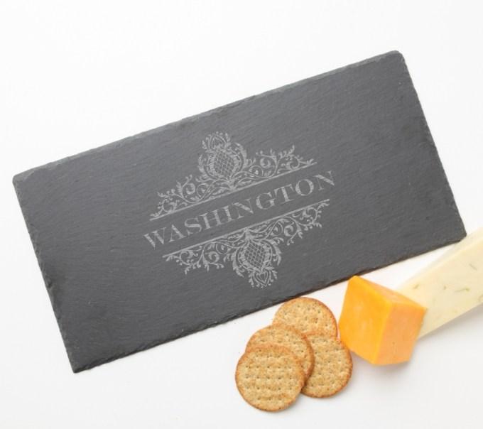 Personalized Slate Cheese Board 15 x 7 DESIGN 36 SCB-036