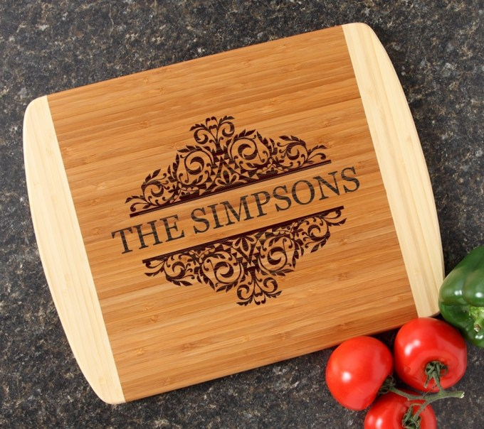 Personalized Cutting Board Custom Engraved 14x11 DESIGN 39 CBC-039