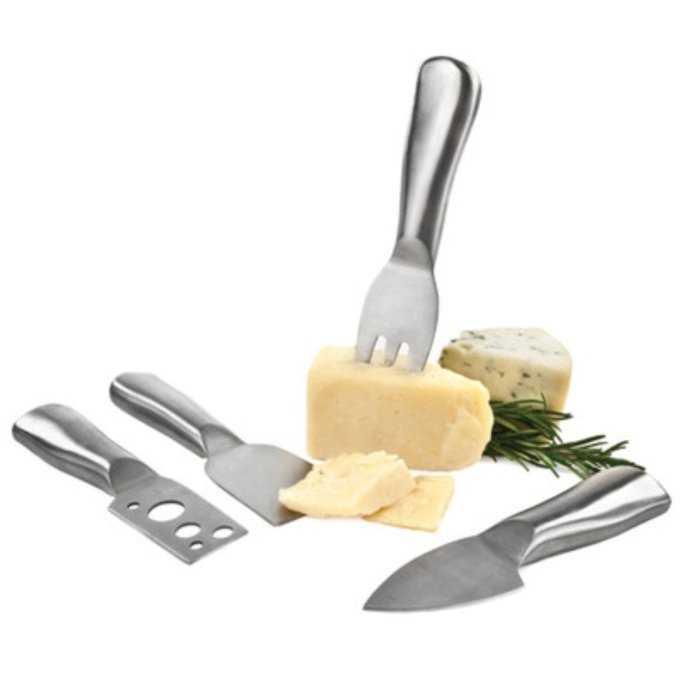 Set of 4 Stainless Steel Cheese Utensils
