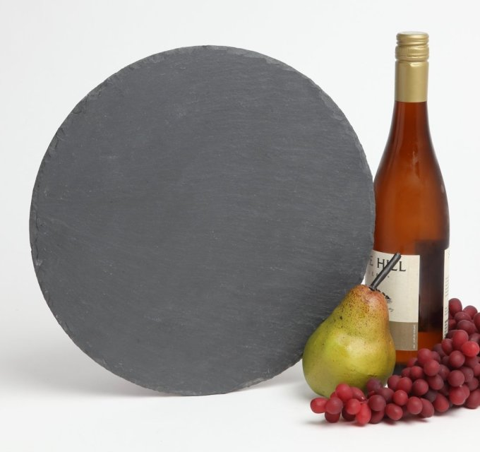 Personalized Slate Cheese Board Round 12 x 12