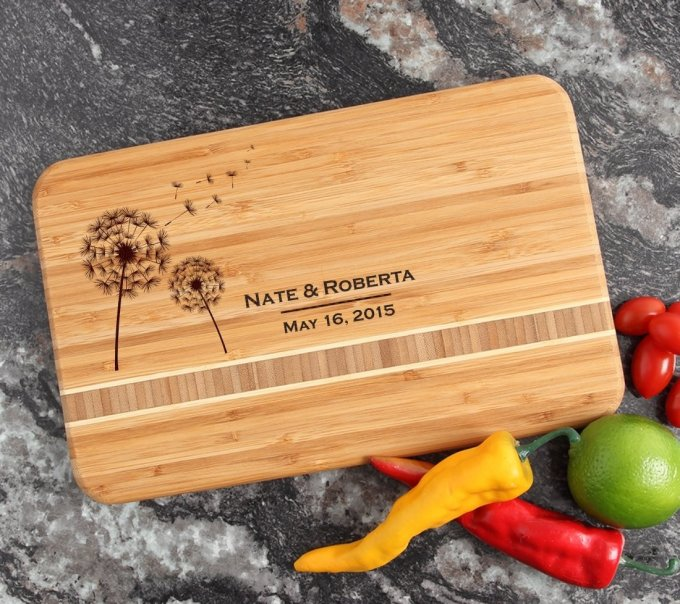Personalized Bamboo Cutting Board Engraved 12 x 8 DESIGN 28 CBE-028