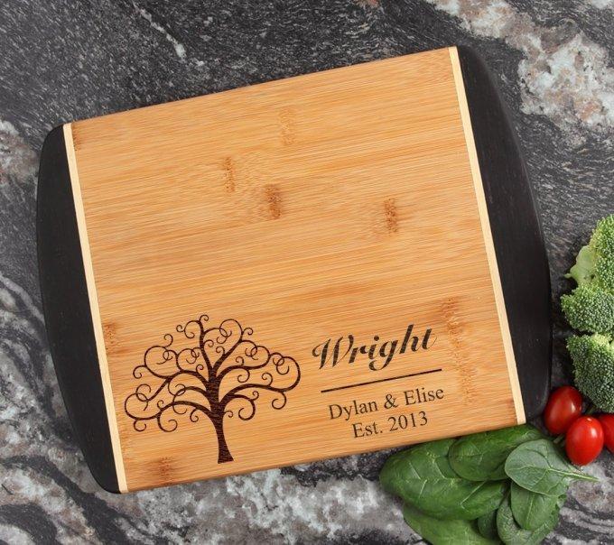 Cutting Board Engraved Personalized Bamboo 12 x 9 DESIGN 18 CBI-018