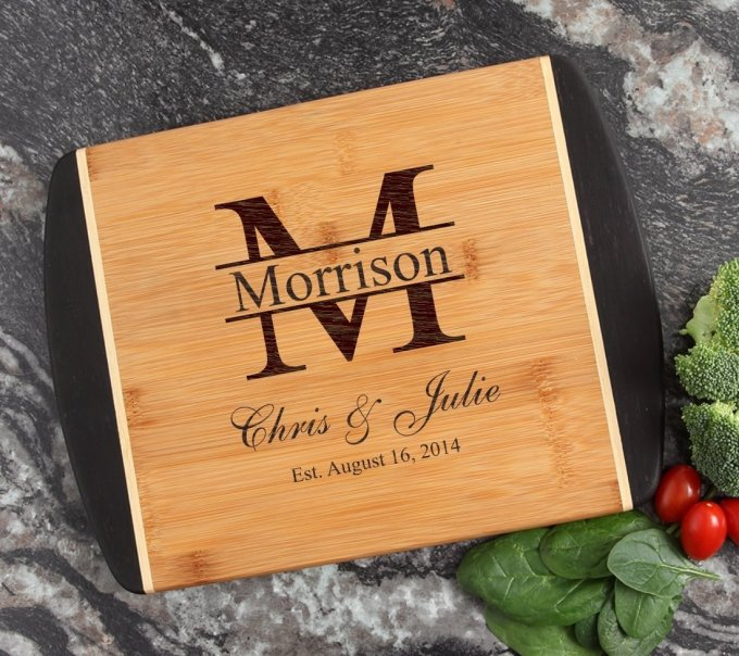 Cutting Board Engraved Personalized Bamboo 12 x 9 DESIGN 24 CBI-024