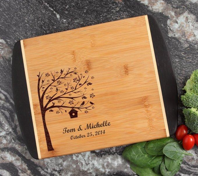 Cutting Board Engraved Personalized Bamboo 12 x 9 DESIGN 27 CBI-027