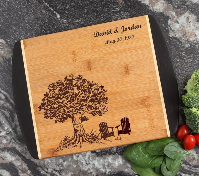 Cutting Board Engraved Personalized Bamboo 12 x 9 DESIGN 31 CBI-031