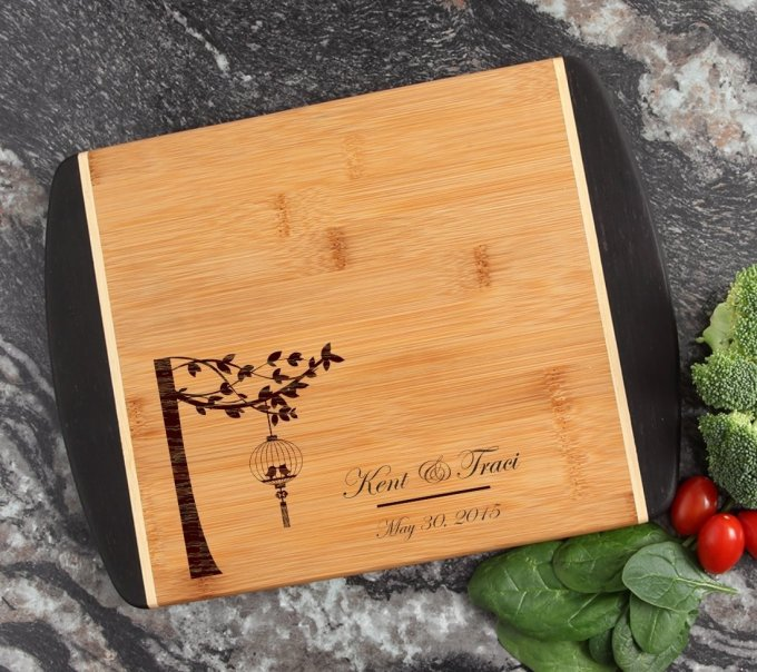 Cutting Board Engraved Personalized Bamboo 12 x 9 DESIGN 32 CBI-032