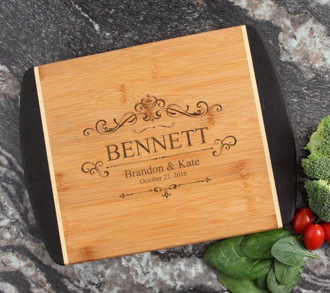 Cutting Board Engraved Personalized Bamboo 12 x 9 DESIGN 35 CBI-035