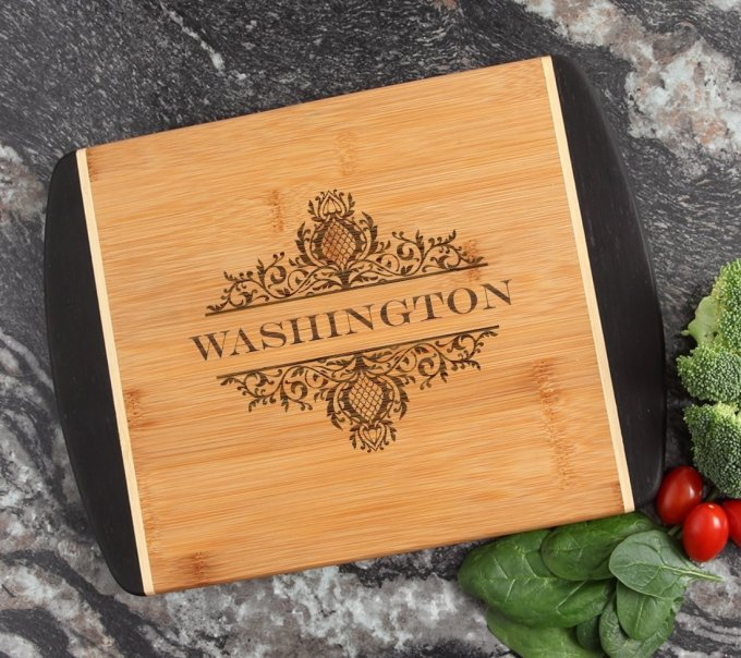 Cutting Board Engraved Personalized Bamboo 12 x 9 DESIGN 36 CBI-036
